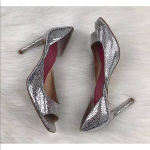 Kate Spade Silver Metallic Open Toe Heels ~Size 8~